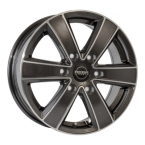 Mega Wheels Hercules 6 Anthracite grey front polished(730006515613927421)
