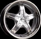 Mega Wheels Inoxera Hyper silver w/inox lip(730009520613940110)