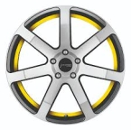 Corspeed Corspeed challenge Higloss-Gunmetal-polished / undercut Color Trim gelb(4251118704427)