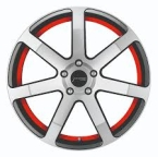 Corspeed Corspeed challenge Higloss-Gunmetal-polished / undercut Color Trim rot(4251118704410)