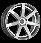 Corspeed Corspeed challenge Higloss-Gunmetal-polished / undercut Color Trim weiss(4251118704434)