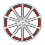 Corspeed Corspeed deville Silver-brushed-Surface/ undercut Color Trim rot(4251118738149)