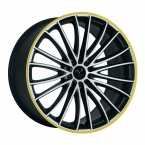 Corspeed Corspeed le mans Mattblack-polished / Color Trim gelb(4251118714488)