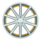 Corspeed Corspeed deville Silver-brushed-Surface/ undercut Color Trim gelb(4251118739320)