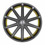 Corspeed Corspeed deville Mattgunmetal/ undercut Color Trim gelb(4251118739580)