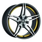 Barracuda Starzz Mattblack-polished / undercut Color Trim gelb(4251118702577)