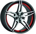 Barracuda Starzz Mattblack-polished / undercut Color Trim rot(4251118702560)