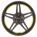Barracuda Starzz Mattblack Puresports / undercut Color Trim gelb(4251118702409)