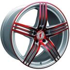 Rondell 0217 ELPHO Silver, Glossy Red Elpho polish(A924500)