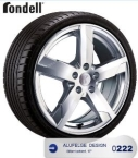 Rondell 0222 Silber lackiert(A029900)