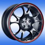 RH Alurad AE Tecnic schwarz / mit rotem Farbring(AE80755511243 A)