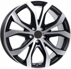 Rial uniwheels w10 Matt Black & Polished(254493)