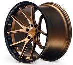 Ferrada FR2 Mat Bronze/Blank sort kant(FR2191055112BZ25)