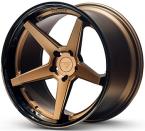 Ferrada FR3 Mat Bronze/Blank sort kant(FR3191055112BZ25)