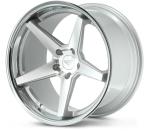 Ferrada FR3 Sølv/poleret/krom kant(FR3191055112MS25)