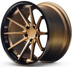 Ferrada FR4 Mat Bronze/Blank sort kant(FR4191055112BZ25)