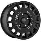Oz Rally Racing Black MATT BLACK SILVER LETTERING(W01A59001R9)