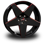 BORBET A Black-Red BLACK RED GLOSSY(A80845.1125665BRG)
