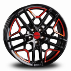 BORBET GTY Black Red BLACK RED GLOSSY(496741)