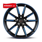 BORBET LX Black Blue Polished BLACK MATT SPOKE RIM BLUE POLISHED(496654)