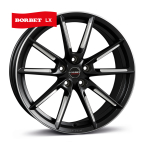 BORBET LX Black Polished BLACK MATT SPOKE RIM POLISHED(496664)