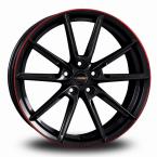 BORBET LX Black Red BLACK GLOSSY RIM RED(496655)