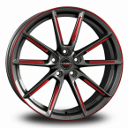 BORBET LX Graphite Red Polished GRAPHITE SPOKE RIM RED POLISHED(496663)