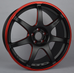 Enkei IZUMO RED (SC38) (EN03) MATT BLACK / RED ELOX (MBRD)(EN03-851840-D3-63)