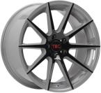 Tec-Speedwheels GT7 Grau-Schwarz-Seidenmatt 2-farb(GT7851945W1.BLGR)