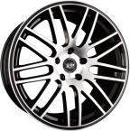 Tec-Speedwheels GT1 Schwarz-Glanz frontpoliert(10520as080)
