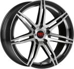 Tec-Speedwheels GT2-EVO Schwarz-Glanz frontpoliert(GT2751738X5.BP)