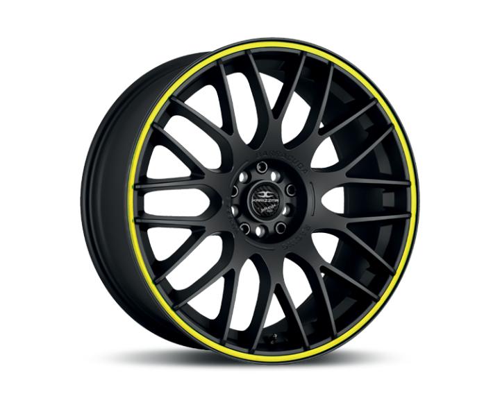 Barracuda Karizzma Mattblack Puresports / Color Trim gelb
