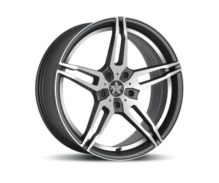 Barracuda Starzz Mattblack-polished / undercut Color Trim weiss