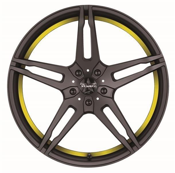 Barracuda Starzz Mattblack Puresports / undercut Color Trim gelb
