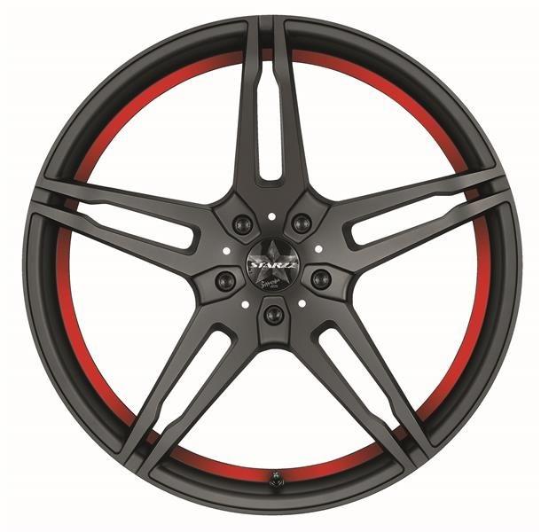 Barracuda Starzz Mattblack Puresports / undercut Color Trim rot
