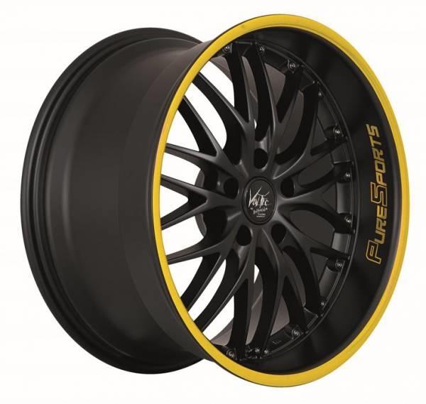 Barracuda Voltec t6 Mattblack Puresports / Color Trim gelb