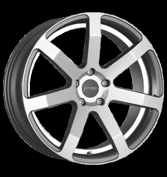 Corspeed Corspeed challenge Higloss-Gunmetal-polished / undercut Color Trim weiss