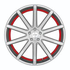 Corspeed Corspeed deville Silver-brushed-Surface/ undercut Color Trim rot