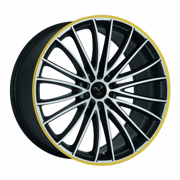 Corspeed Corspeed le mans Mattblack-polished / Color Trim gelb