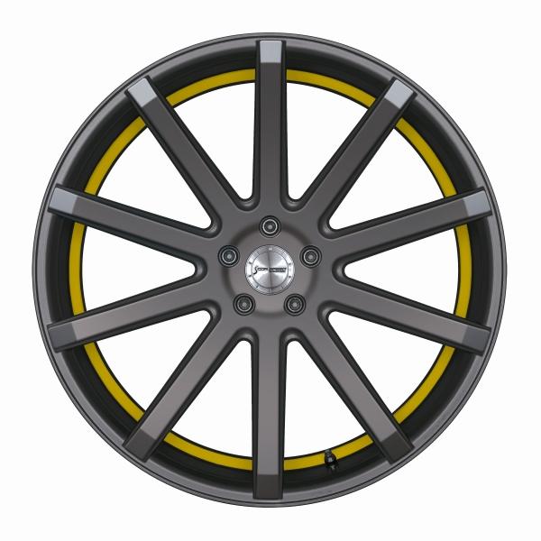 Corspeed Corspeed deville Mattgunmetal/ undercut Color Trim gelb