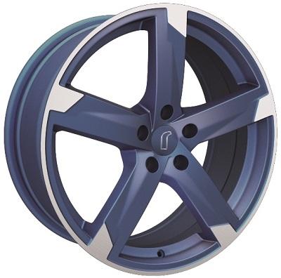 Rondell 01RZ Metallic-Blau-Matt poliert