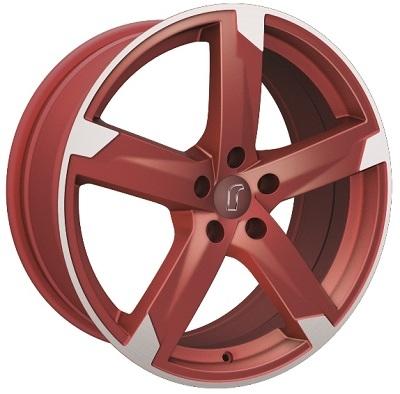 Rondell 01RZ Metallic-Rot-Matt poliert