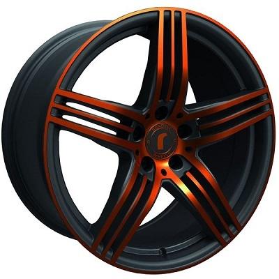 Rondell 0217 ELPHO Black, Glossy Orange Elpho polish