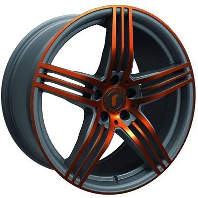 Rondell 0217 ELPHO Grey, Glossy Orange Elpho polish