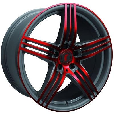 Rondell 0217 ELPHO Grey, Glossy Red Elpho polish