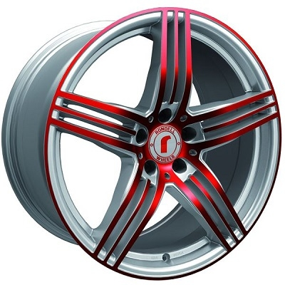 Rondell 0217 ELPHO Silver, Glossy Red Elpho polish