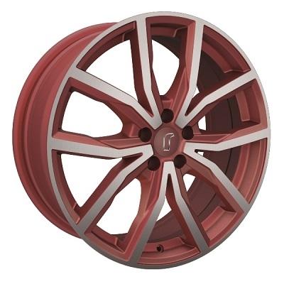 Rondell 02RZ Metallic-Rot-Matt poliert