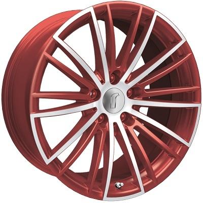 Rondell 08RZ Metallic-Rot-Matt poliert