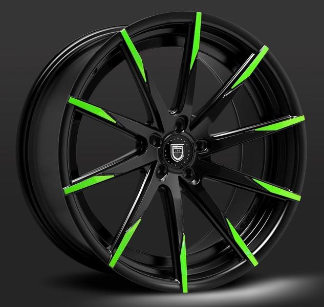 Lexani CSS15 Sort / Grøn