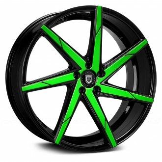 Lexani CSS7 Sort / Grøn Front